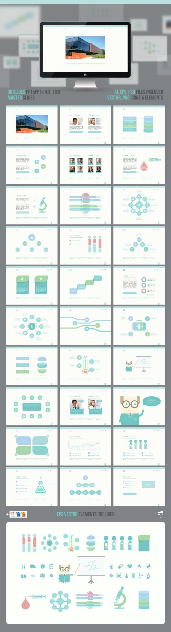 Medical Professional Presentation - Business PowerPoint Templates