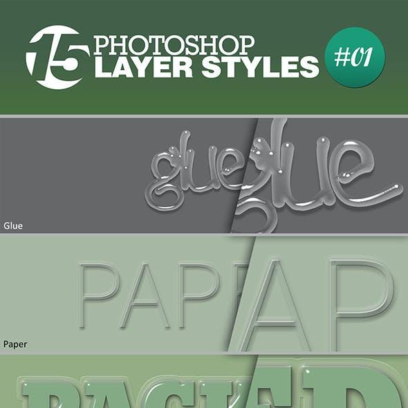 15 Unique Photoshop Layer Styles #01