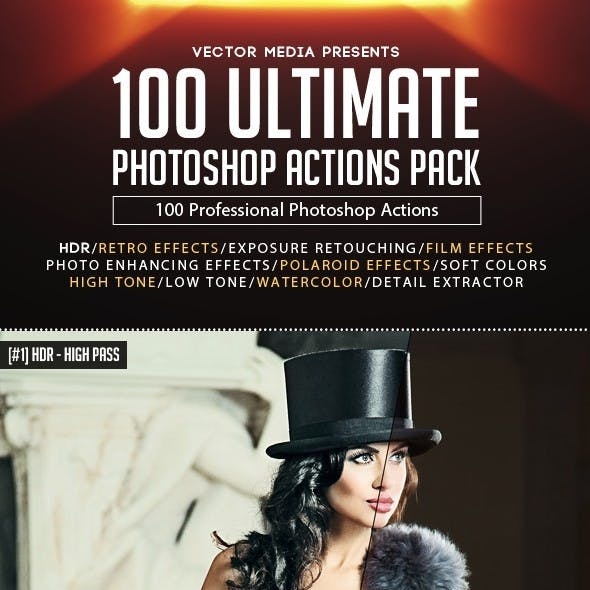 100 Ultimate Photoshop Actions Pack