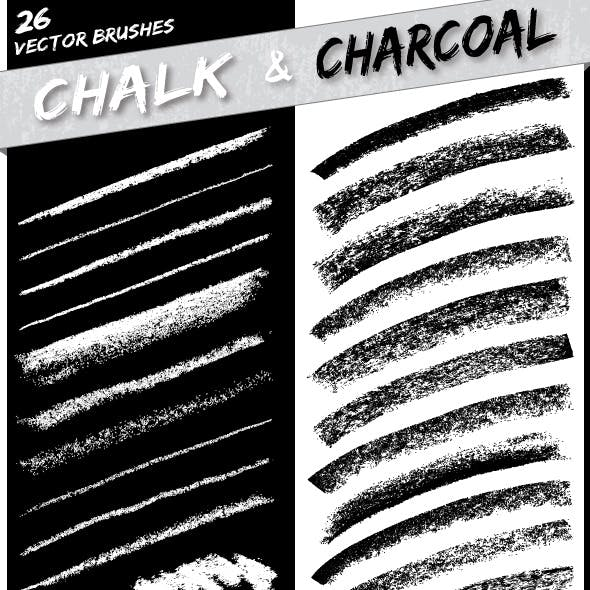 Chalk and Charcoal Brushes