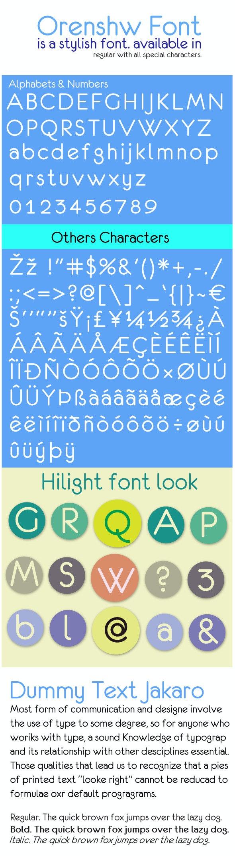 Orenshaw Font - Sans-Serif Fonts