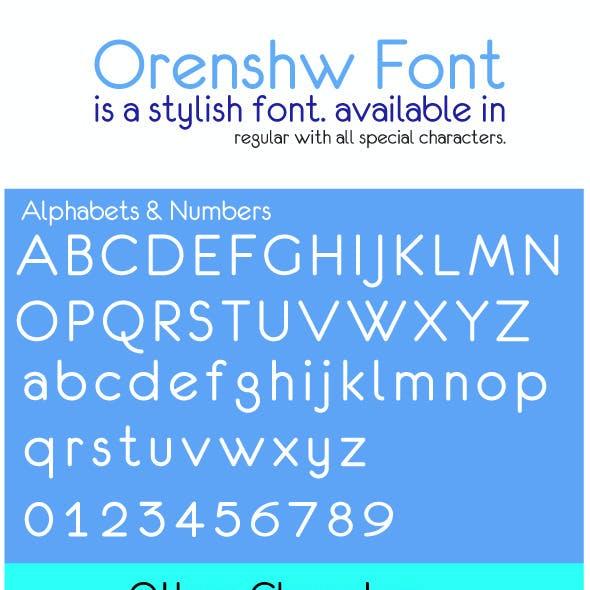 Orenshaw Font