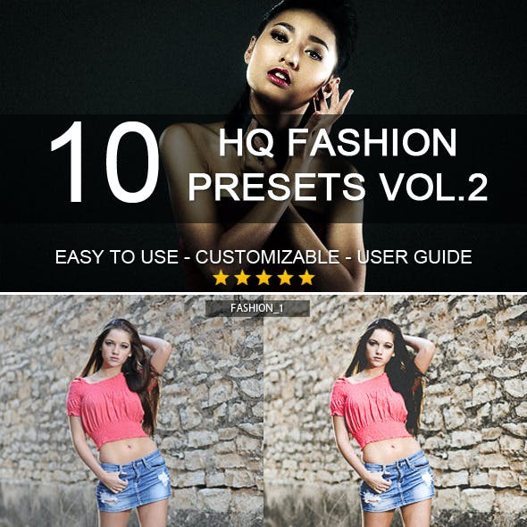 10 HQ Fashion Presets vol.2