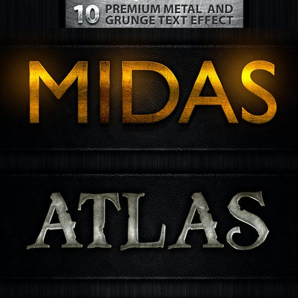 10 Premuim Metal and Grunge Text Effects