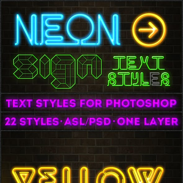 Neon Sign - Text Styles