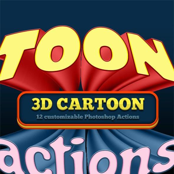 3D Cartoon & Comic Book Actions 2