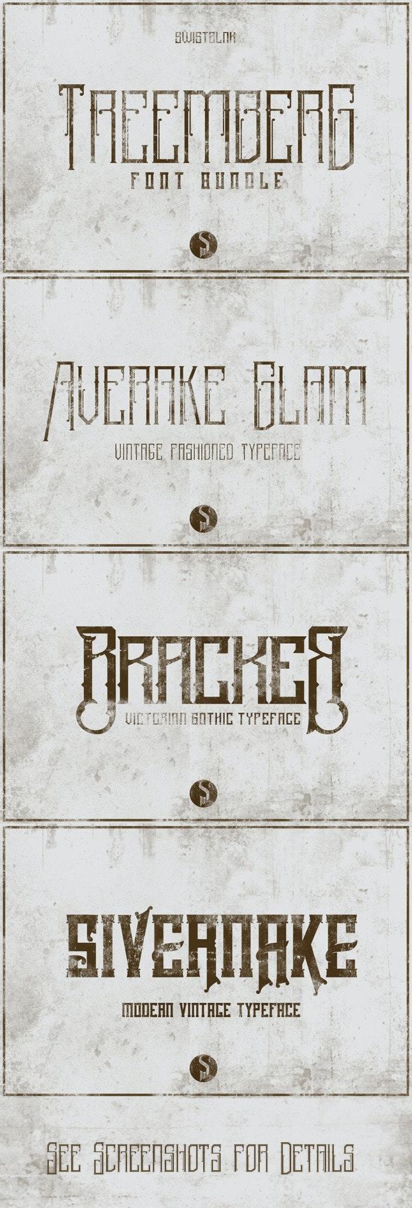 Treemberg Font Bundle - Decorative Fonts