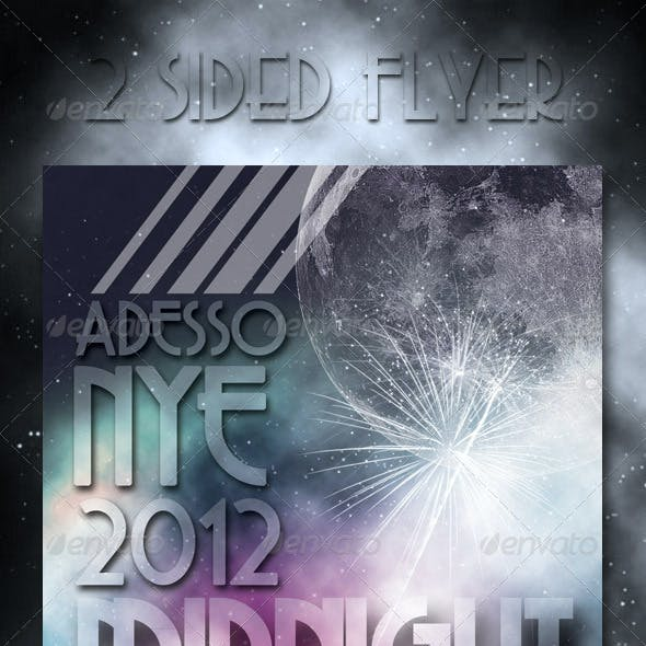 Midnight Ball New Years Eve Flyer