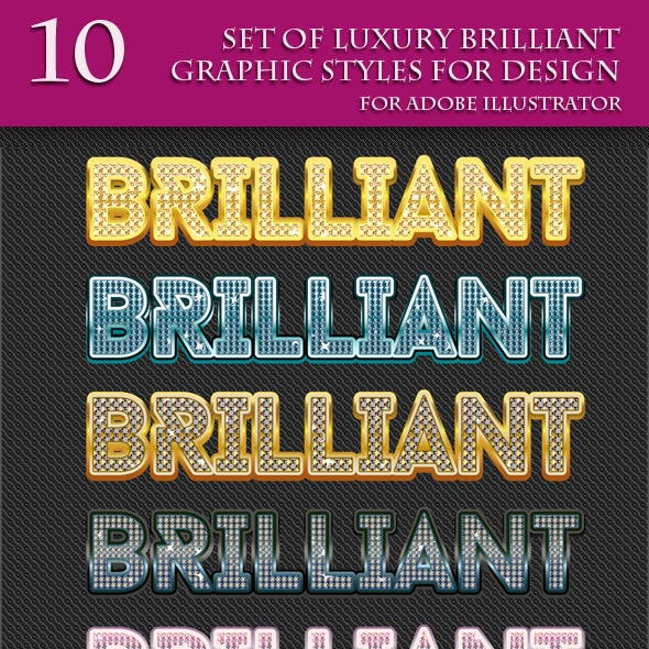 Set of Luxury Graphic Styles for Design