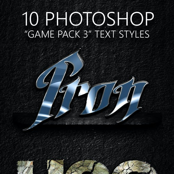 Game Pack 03 Text Styles
