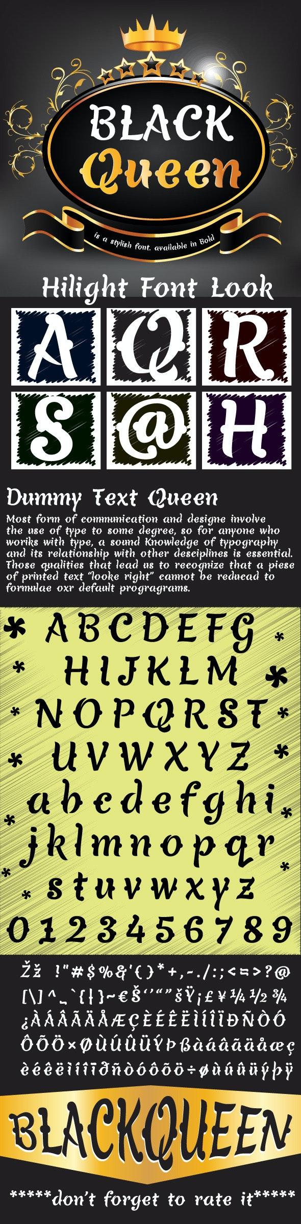 Black Queen Font