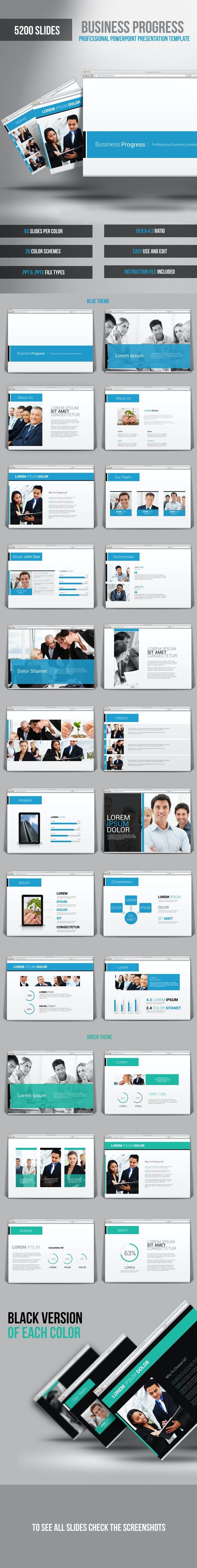 Business Progress Powerpoint Presentation Template - PowerPoint Templates Presentation Templates