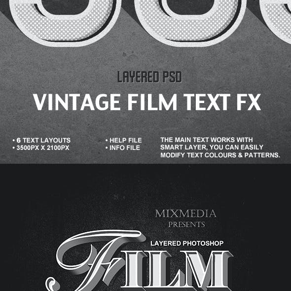 Old Film Title Fx