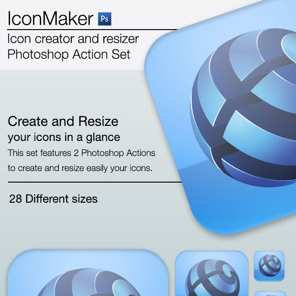 iconMaker - Icon Creator and Resizer for Photoshop