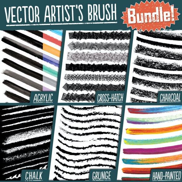 Vector Artist's Brush Bundle