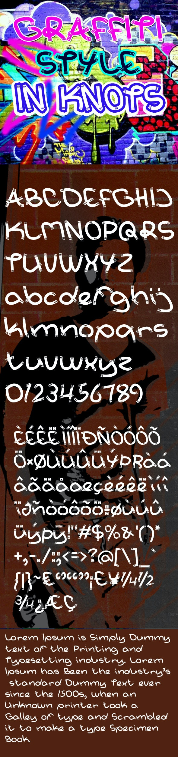 In Knots Font - Graffiti Fonts