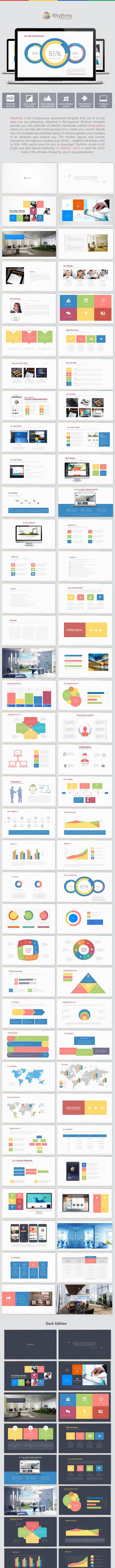 Rhythms Ultimate Presentation Template - PowerPoint Templates Presentation Templates