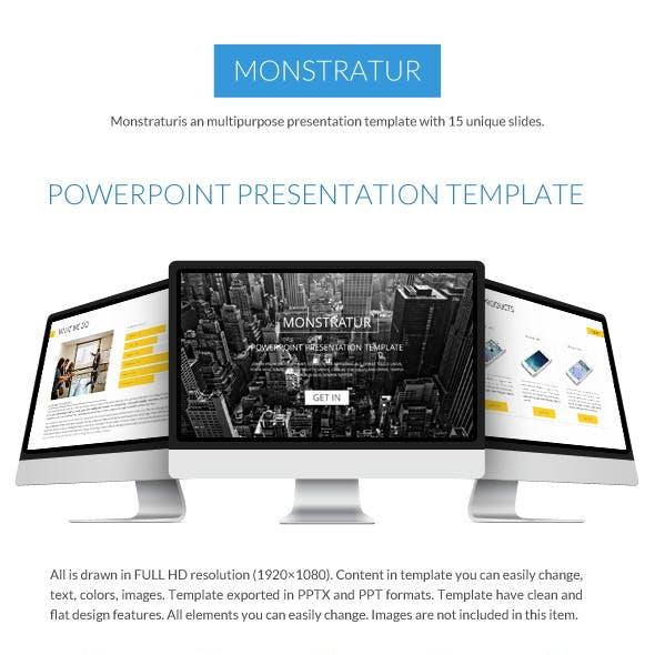 Monstratur Business Power Point Presentation