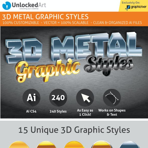 3D Metal Graphic Styles