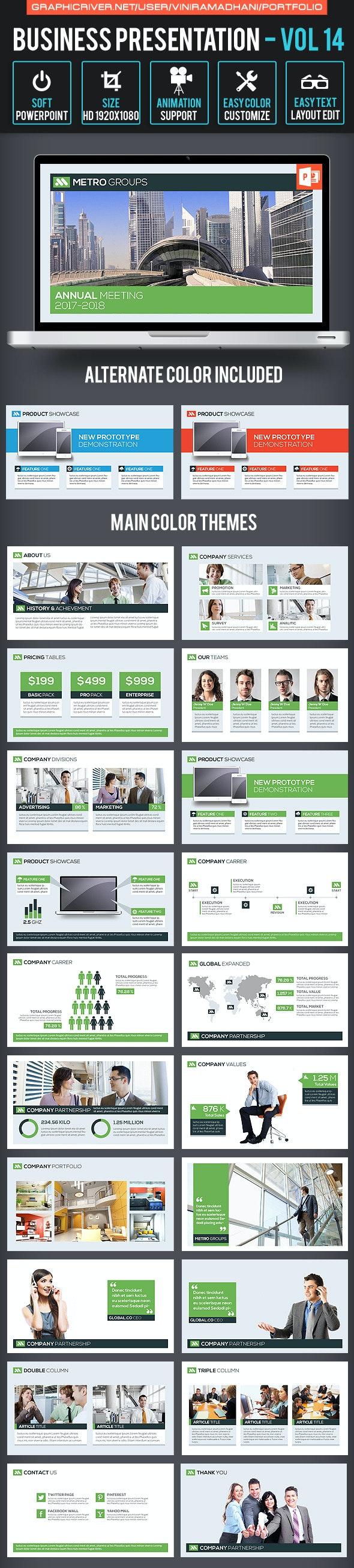 Business Presentation Volume 14 - Business PowerPoint Templates