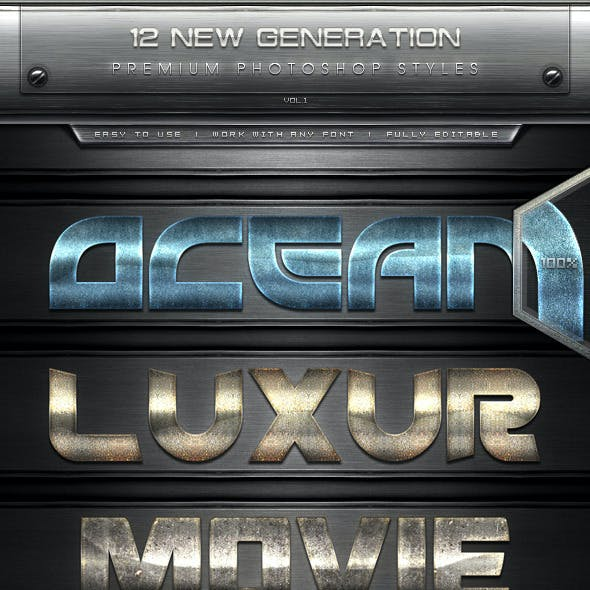 12 New Generation Text Effect Styles Vol.1