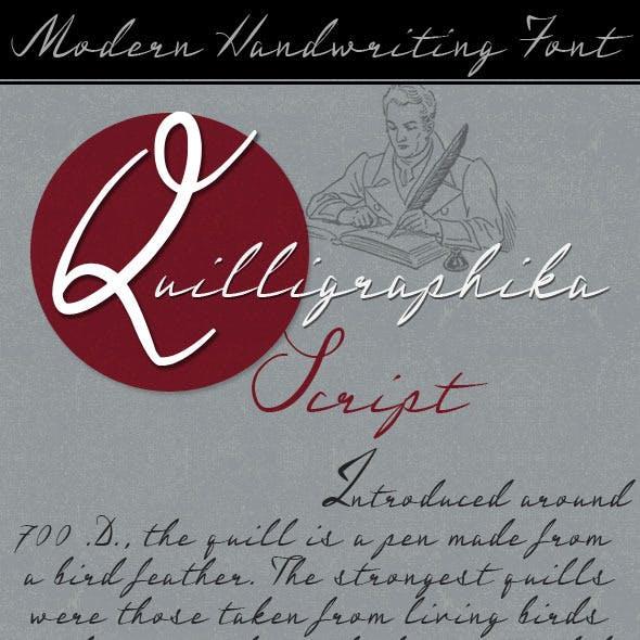Quilligraphika Quill Pen Script Handwriting