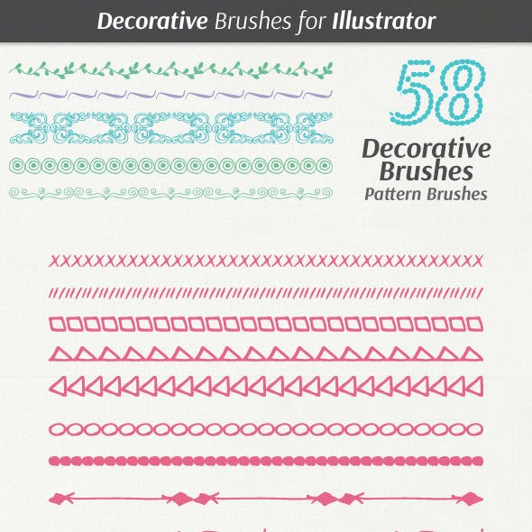 Decorative Hand Drawn Brushes