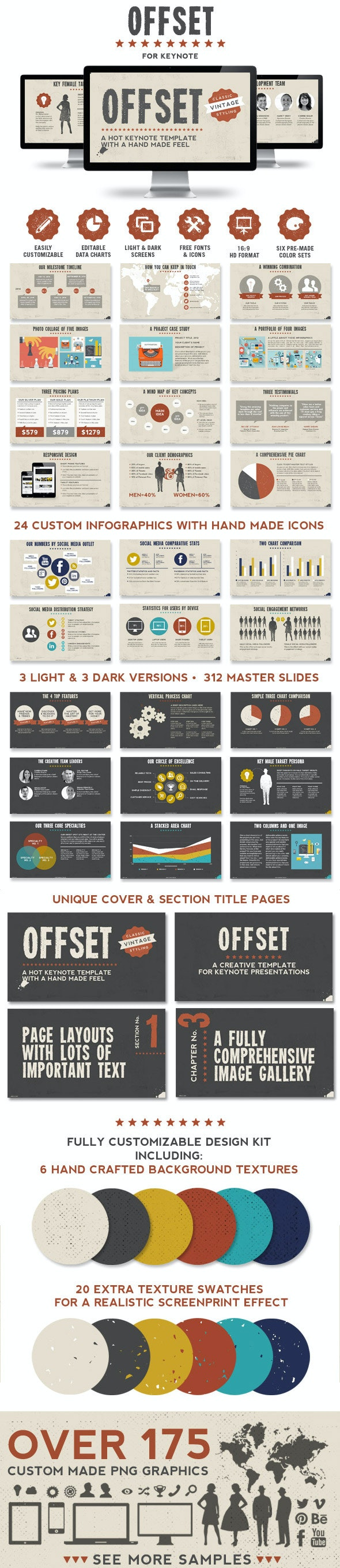 Offset Keynote Presentation Template - Creative Keynote Templates
