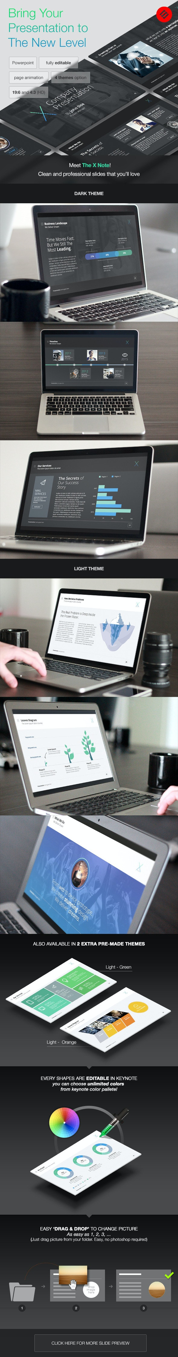 The X-note Powerpoint Template - PowerPoint Templates Presentation Templates