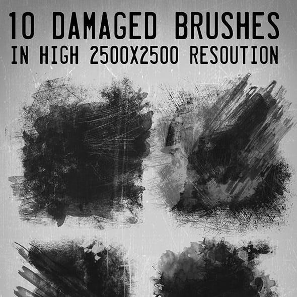 "10 Hi-res ""Damaged"" Brushes"