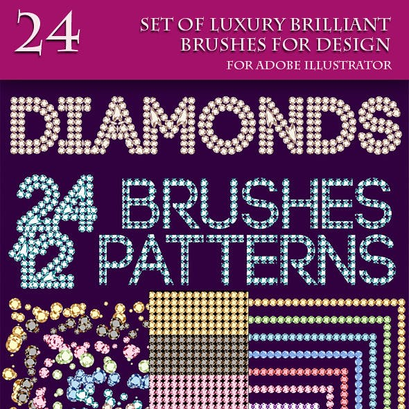 Set of Luxury Brushes for Design