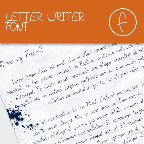 Letter Writer Font - Regular & Italic