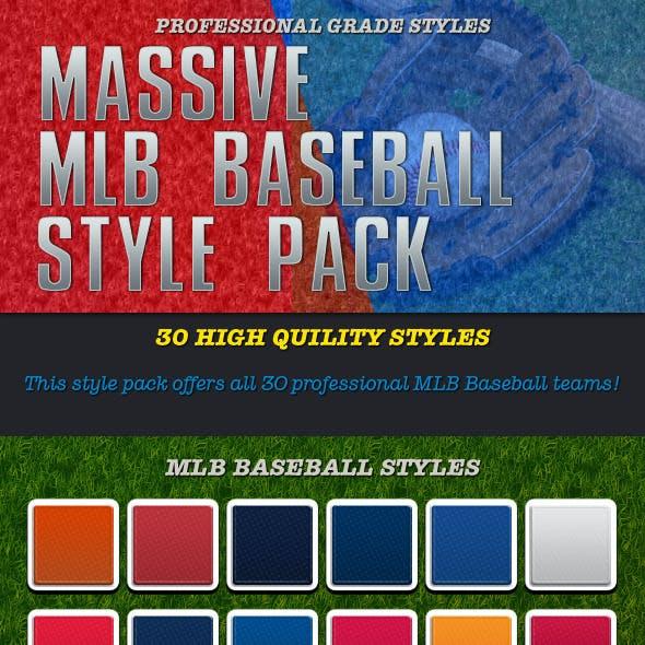 30 MLB Baseball Style Pack