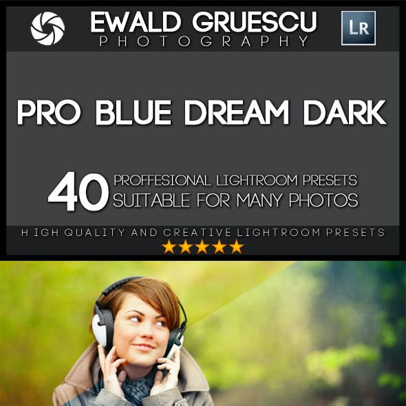 40 Blue Dream Dark Lightroom Presets