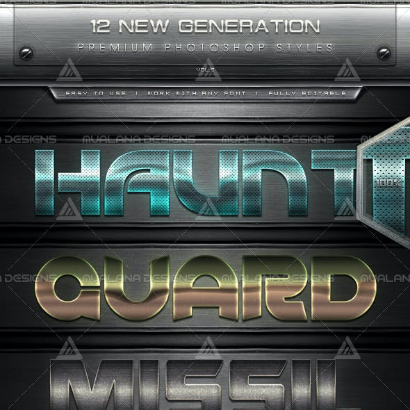 12 New Generation Text Effect Styles Vol.5