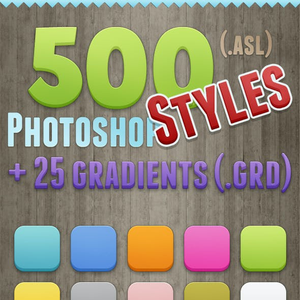 500 Photoshop Styles