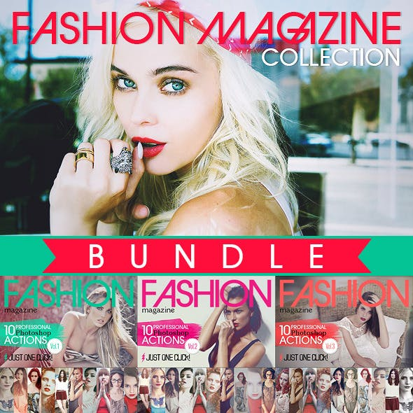 Fashion Magazine Actions Bundle