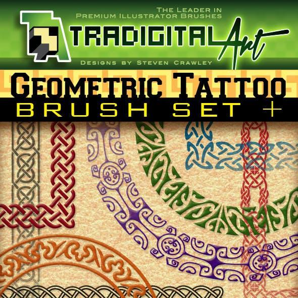 Geometric Tattoo Brush Set +