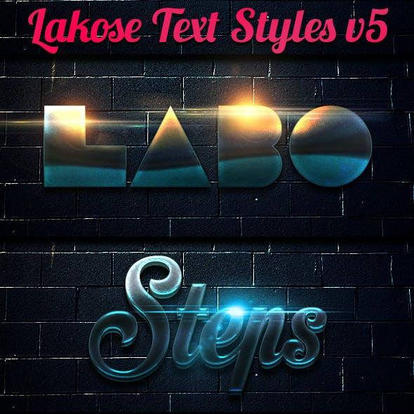 Lakose Text Styles v5