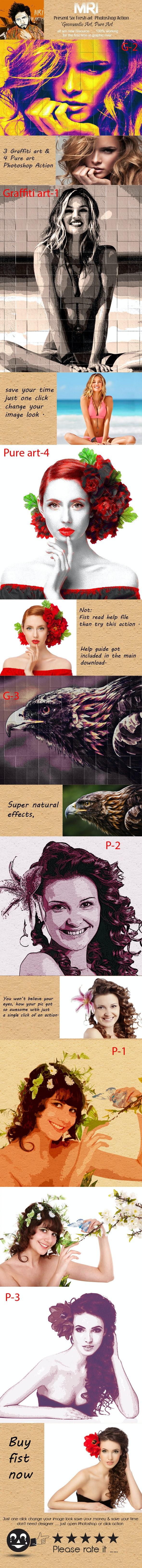 Pure & Graffiti Art - Actions Photoshop