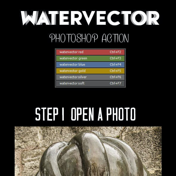 Watervector Photoshop Action