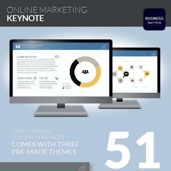 Online Marketing Keynote Template