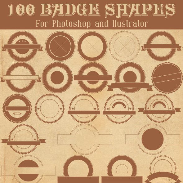 100 Badge Shapes