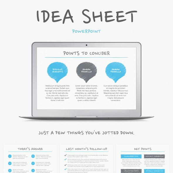 Idea Sheet PowerPoint Template