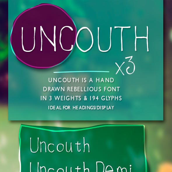 Uncouth Rebellious Handrawn Font