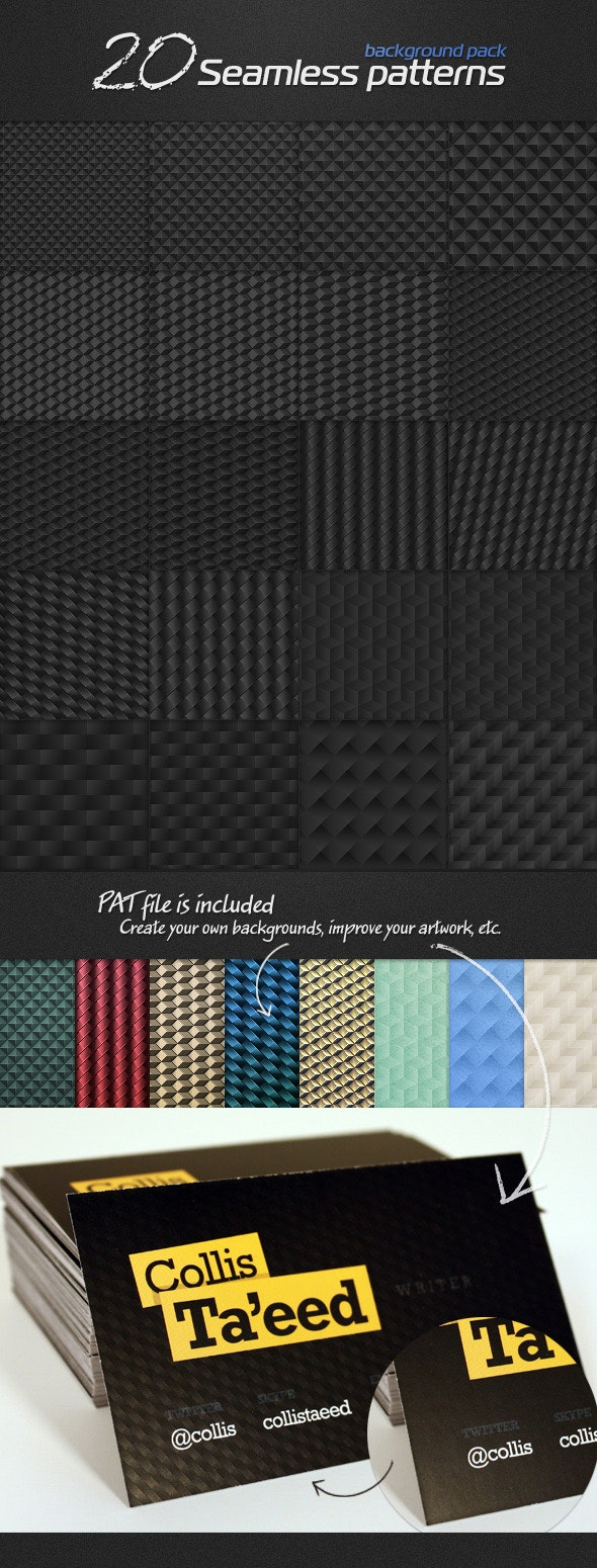 20 seamless patterns, background pack - Miscellaneous Textures / Fills / Patterns
