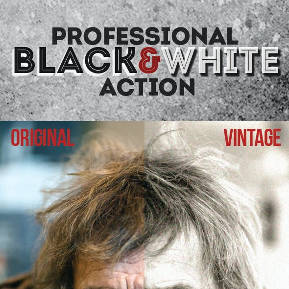 Professional Black & White Actions