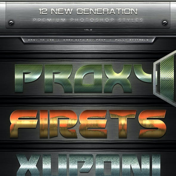 12 New Generation Text Effect Styles Vol.8