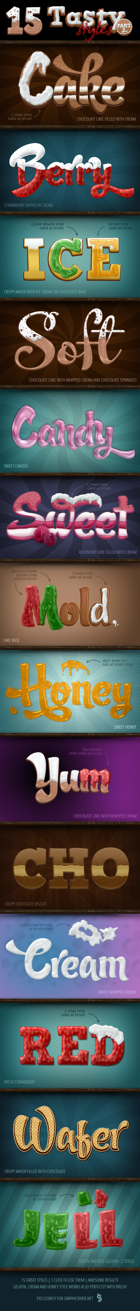 Tasty Food Styles - part 2 - Text Effects Styles