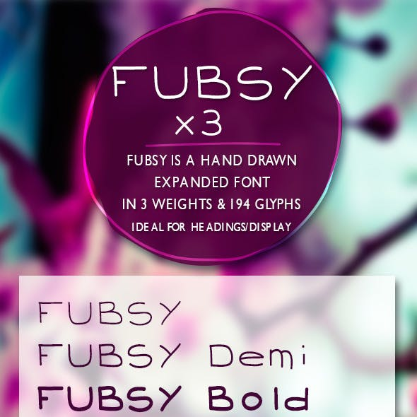 Fubsy Extended Handrawn Font